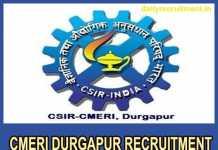 CMERI Durgapur Recruitment 2018