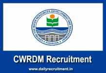 CWRDM Recruitment