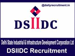 DSIIDC Recruitment 2018