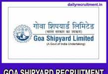Goa Shipyard Recruitment 2020