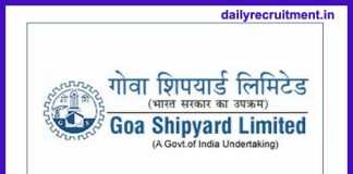 Goa Shipyard Recruitment 2018