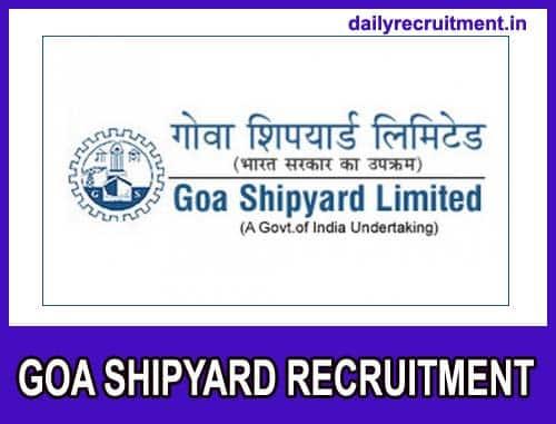 Goa Shipyard Recruitment 2021