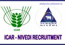ICAR NIVEDI Recruitment 2018