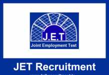 JET Recruitment 2018