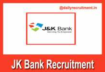 JK Bank Recruitment 2018