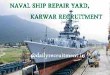 Naval Ship Repair Yard Karwar Recruitment 2019