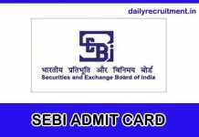 SEBI Admit Card 2018
