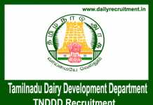 TNDDD Recruitment 2018