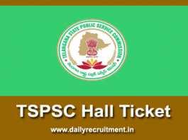 TSPSC Hall Ticket 2018