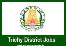 Trichy District Jobs 2019