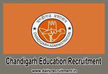 Chandigarh Education Recruitment 2018