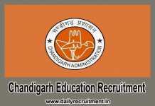 Chandigarh Education Recruitment 2019