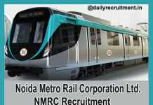 Noida Metro Rail Recruitment 2018