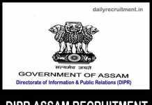 DIPR Assam Recruitment 2019