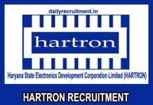 Hartron Recruitment 2020