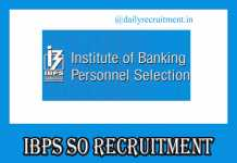 IBPS CRP SO IX Notification 2019