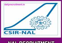 NAL Recruitment 2018