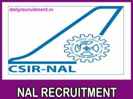 NAL Recruitment 2018