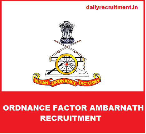 Ordnance Factory Ambarnath Recruitment 2018