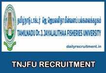 TNJFU Recruitment 2018