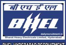 BHEL Hyderabad Recruitment 2019