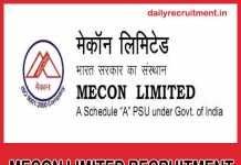 MECON Limited Recruitment 2019