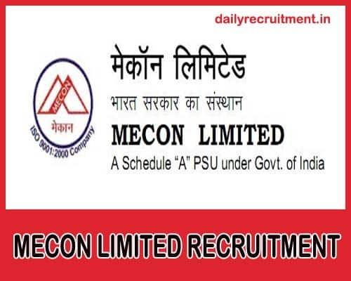 MECON Recruitment 2020