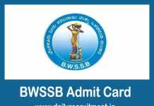 BWSSB Admit Card 2019