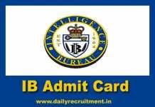IB Admit Card 2019