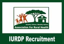 IURDP Recruitment 2019