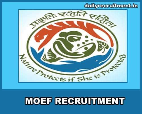 MOEF Recruitment 2021