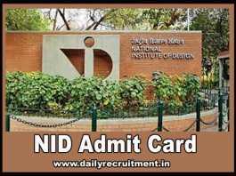 NID Admit Card 2019