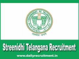 Streenidhi Telangana Recruitment 2019