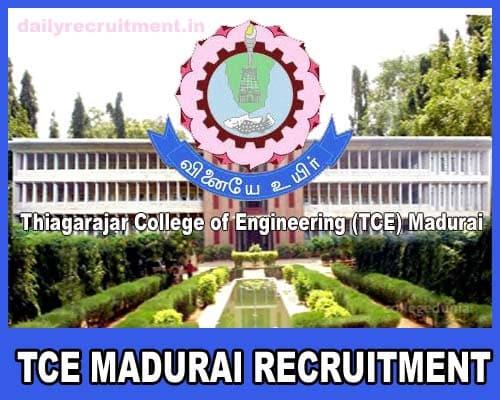 TCE Madurai Recruitment 2019