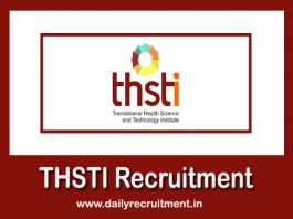 THSTI Recruitment 2019