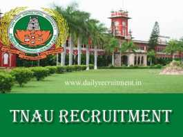 TNAU Recruitment 2019