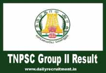 TNPSC Group 2 Result 2019