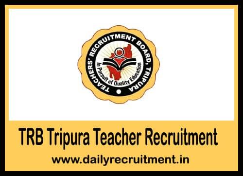 TRB Tripura Teacher Recruitment 2019