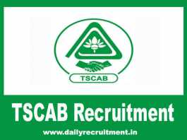 TSCAB Recruitment 2019