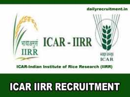 ICAR IIRR Recruitment 2019