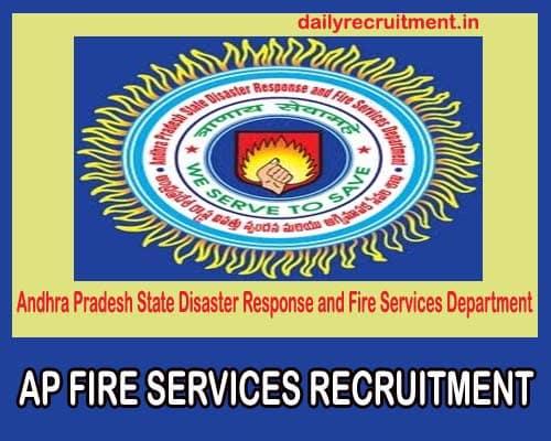 AP Fire Services Recruitment 2019, Apply online for 91 HG (Firemen