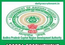 APCRDA Recruitment 2019