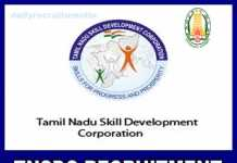 TNSDC Recruitment 2019