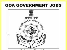 Goa Government Jobs 2019