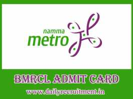 BMRCL Admit Card 2019