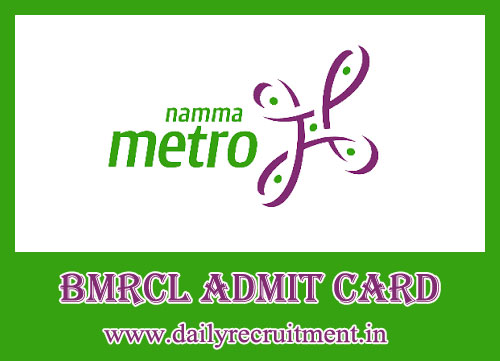 BMRCL Admit Card 2019
