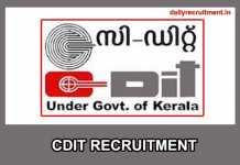 CDIT Recruitment 2019