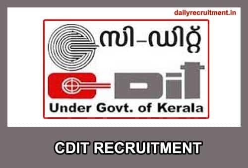 CDIT Recruitment 2020