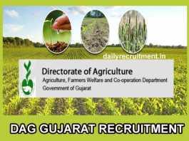DAG Gujarat Recruitment 2019