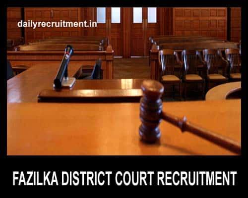 Fazilka District Court Recruitment 2019, Apply for 33 Peon Job